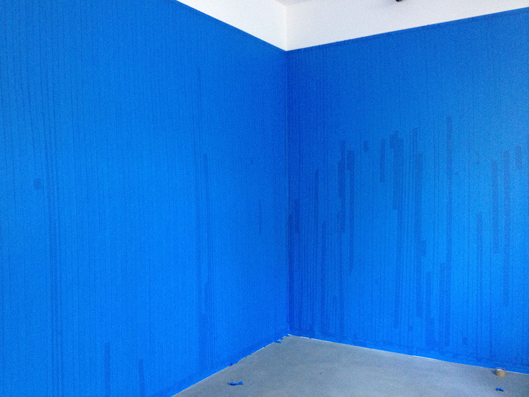 How to paint a wall blue without blue paint : Don Edler